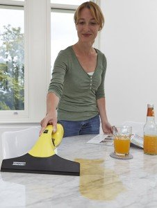 Karcher window vac cleaning spills