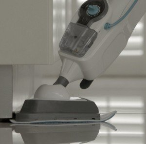 Using a steam mop to clean tiled floors