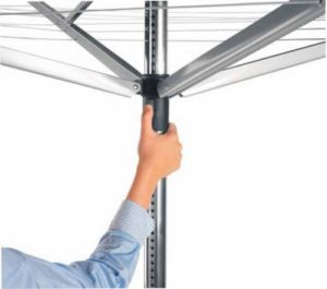 Lowering a rotary airer