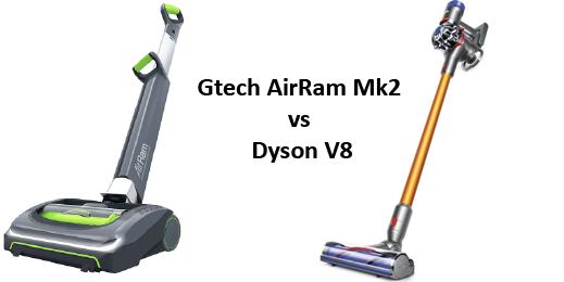Gtech Air Ram vs Dyson V8