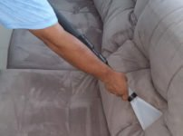 Cleaning a fabric sofa
