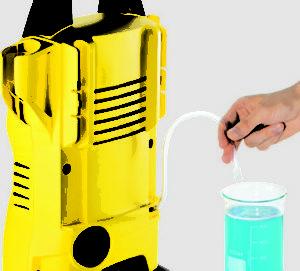 Suction detergent addition