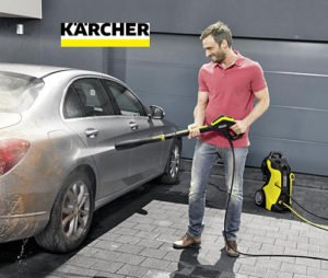 Washing with a Karcher pressure washer
