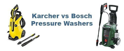 Karcher vs Bosch Pressure Washers