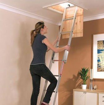 Using a loft ladder